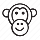 animal icon, icon icon, line icon, monkey, zoo icon icon
