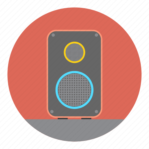 device, loud, multimedia, music, party, speaker, woofer icon