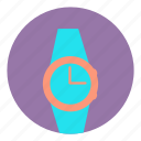 accessory, alarm, fashion, time, watch, wear, wrist icon