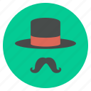 accessory, cap, hat, magic, magician, moustache, style icon