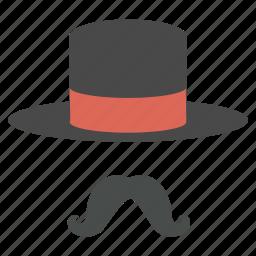 accessory, cap, hat, magic, magician, moustache, style icon