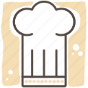 chef, cook, food, hats, meal, restaurant icon