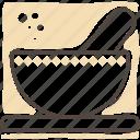 bowl, cooking, kitchen, mortar, utensil icon