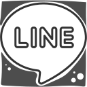 line, logo, social networks icon