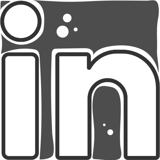 linkedin, logo, social networks icon
