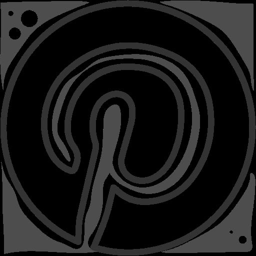 logo, pinterest, social networks icon