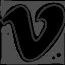 logo, social networks, vimeo icon