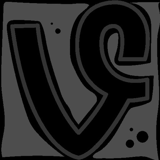 logo, social networks, vine icon