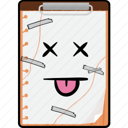 clipboard, copy, emoji, paste, smiley icon