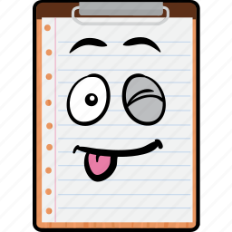 clipboard, copy, emoji, paste, smiley icon