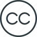 common, copy, copyright, creative, restriction, right icon