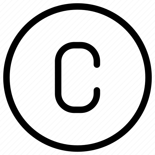 copyright, data, document, file, paper icon