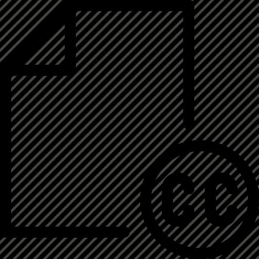 commun, creative, doc, file, paper icon