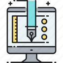 design, drawing, illustrator, pen, photoshop, software icon