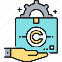copyright, design, industrial, industrial design copyright icon