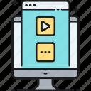 content, media, media content types, types icon