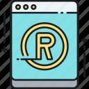 trademark registration, online, trademark, registration icon