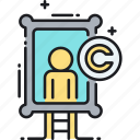 art, copyright, painting, painting copyright icon