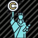 copyright, sculpture, sculpture copyright, statue, statue of liberty icon