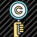 copyright, copyright records, copyrighted, records, search, search records icon
