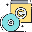 cd, copyright, software, software copyright icon