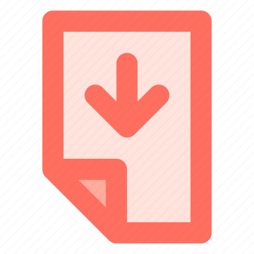 Arrow, data, document, down, file icon - Download on Iconfinder