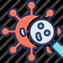 anitivirus, bacteria, color, corona, magnifying, view