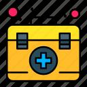 aid, box, first, kid, medicine icon