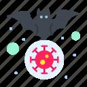 bat, carrier, coronavirus, flu, virus