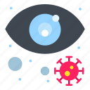 eye, infected, search, view, virus
