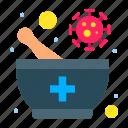 bowl, medicine, pharmacy, virus