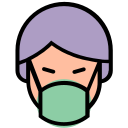 corona, coronavirus, facial, mask, medical, virus icon
