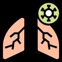 corona, coronavirus, disease, lungs, pain, symptom, virus icon