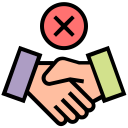 avoid, corona, coronavirus, gesture, handshake, injection, virus icon