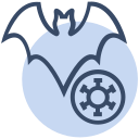 animal, bat, corona, coronavirus, genome, spread, virus icon