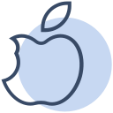 apple, corona, coronavirus, fruit, healthy, virus icon