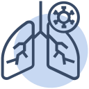 corona, coronavirus, disease, lungs, pain, symptom, virus icon