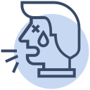 corona, coronavirus, cough, coughing, symptom, virus icon
