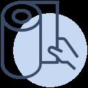clean, corona, coronavirus, hand, tissue paper, virus icon