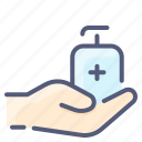 antiseptic, clean, hand, hygiene, soap icon