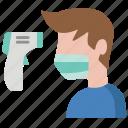 checker, coronavirus, covid19, fever, hot, temperature