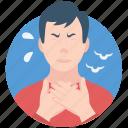 breath, corona, coronavirus, mana, shortness, sick icon