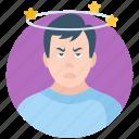corona, disease, dizzy, faint, headache, sick, coronavirus icon