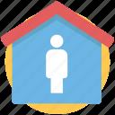 coronavirus, home, house, isolation, property, quarantine, stay at home icon