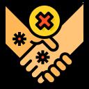hand, hands, handshake, health, no, shake, warning
