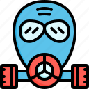 gas mask, mask, respirator