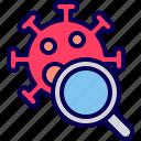 coronavirus, detect, glass, magnifying, research, virus