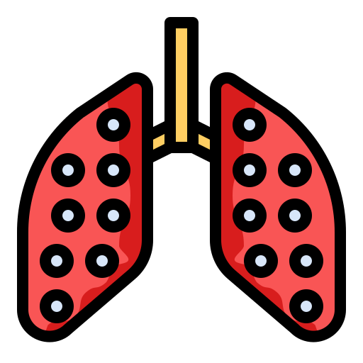 bronchitis, disease, lung, pneumonia icon
