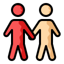touch, holding hands, people, person, walking icon