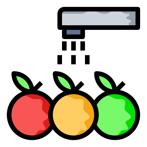 clean, fruits, vegetables, wash icon